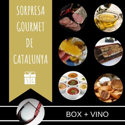 BOX SORPRESA GOURMET DE CATALUNYA CON VINO
